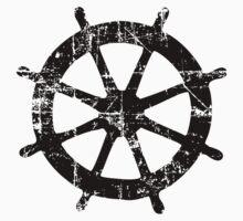Steering Wheel Vintage Sailing Design One Piece - Long Sleeve