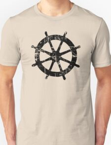 Steering Wheel Vintage Sailing Design Unisex T-Shirt