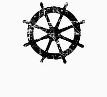 Steering Wheel Vintage Sailing Design Unisex T-Shirt