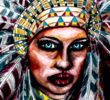 Lumbee Woman - Indian Native American Sticker
