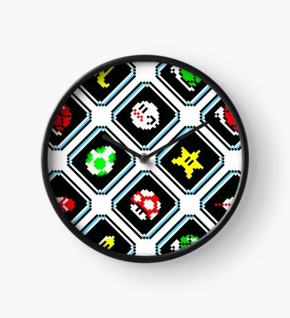 Super Mario Kart / items pattern / white Clock