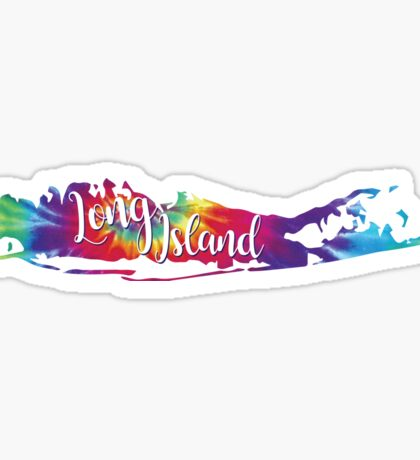Long Island Tie Die Sticker