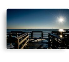 Sunrise Above The Fishing Pier | Wantagh, New York Canvas Print