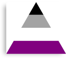 Asexual triangle flag Canvas Print