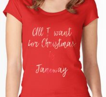 All I want for Christmas is Janeway Women's Fitted Scoop T-Shirt