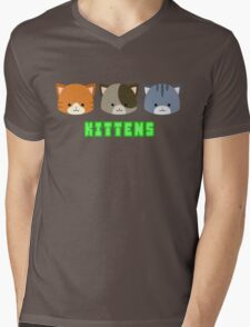 Kittens Mens V-Neck T-Shirt