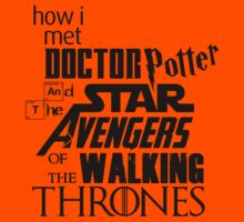 How I met Doctor Potter and the Star Avengers of the Walking Thrones (dark) by Frans Hoorn