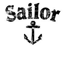 Sailor Anchor Vintage Sailing Design (Black) by theshirtshops