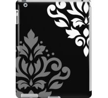 Scroll Damask Art I Black Grey White iPad Case/Skin