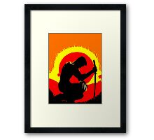 wolverinesunset Framed Print