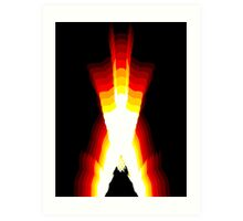 wolverine fire Art Print