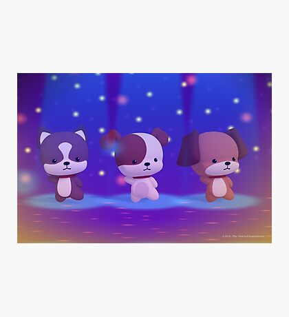 Dancing Puppies Photographic Print
