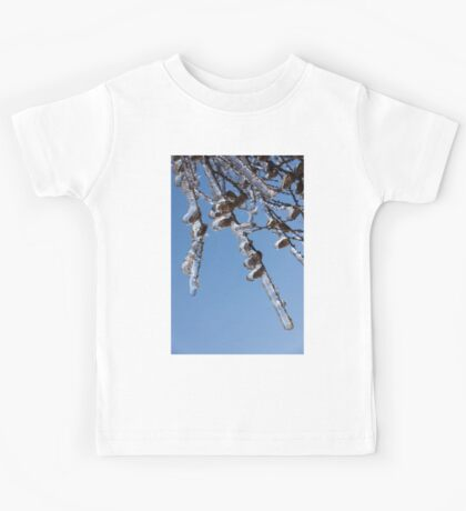 Mother Nature's Christmas Decorations – Sparkling Twigs and Pine Cones Kids Tee