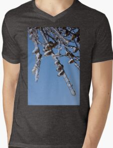 Mother Nature's Christmas Decorations – Sparkling Twigs and Pine Cones Mens V-Neck T-Shirt