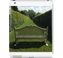 Garden Bench, Hardwick Hall iPad Case/Skin