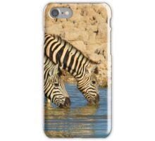 Zebras drinking Tandem iPhone Case/Skin