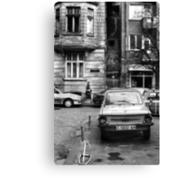 Quiet Streetscape In Sofia From Last Century Canvas Print