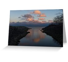 Pink and Blue Serenity - a Lakefront Stillness  Greeting Card