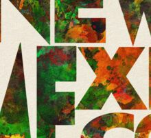 New Mexico Typographic Watercolor Map Sticker