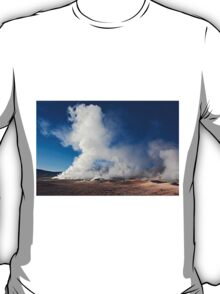 Sol de Manana, steaming geothermal and geyser field T-Shirt