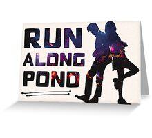 Run Along Pond Greeting Card