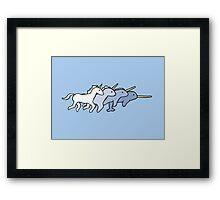 Unicorn Narwhal Evolution Framed Print