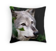 Timber Wolf 1 Throw Pillow