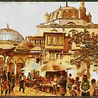 Mosque and Street, Scutari, Constantinople, Turkey in the 19th century by Dennis Melling
