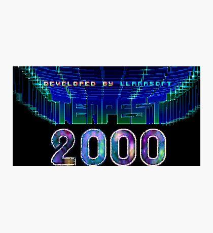 Tempest 2000 (Jaguar Title Screen) Photographic Print