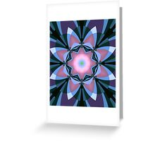 Pink heart flower Greeting Card
