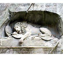 Lion of Lucerne Photographic Print