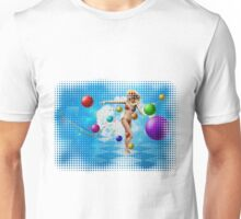 Girl in bikini dancing Unisex T-Shirt