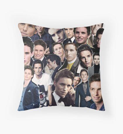 eddie redmayne collage Throw Pillow