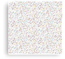 Rainbow sprinkles Canvas Print