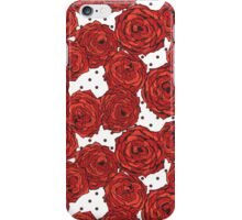 Hand drawn roses and dots iPhone Case/Skin