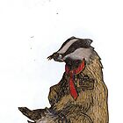 Badger with a Badge by Xantippe