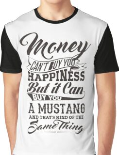 Money And Mustang Graphic T-Shirt