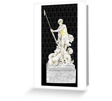 Sherlock+John - Statue of heavenliness Greeting Card
