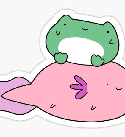Little Frog and Axolotl Sticker