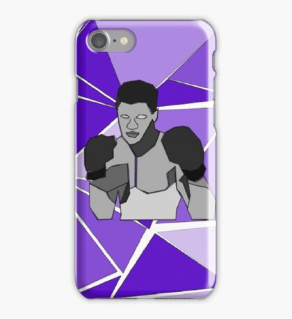 Muhammad Ali - Isometric - Purple iPhone Case/Skin