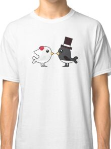 Cute couple wedding birds Classic T-Shirt