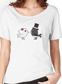 Cute couple wedding birds Women's Relaxed Fit T-Shirt