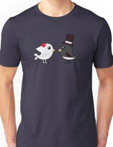 Cute couple wedding birds Unisex T-Shirt
