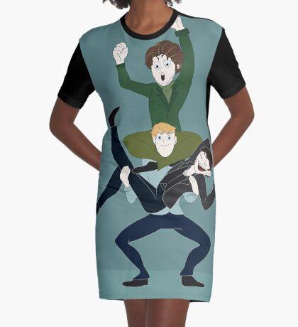 CaptainCharmingHood Graphic T-Shirt Dress