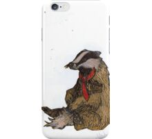 Badger with a Badge iPhone Case/Skin