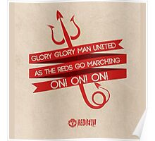 Manchester United Is Red Poster