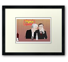 Mystrade - In the Diner Framed Print