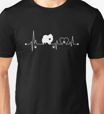 Heartbeat Dog Pomeranian Unisex T-Shirt