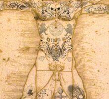 Vitruvian Tats Sticker