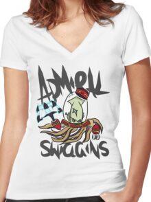 Admiral Swiggins Women's Fitted V-Neck T-Shirt